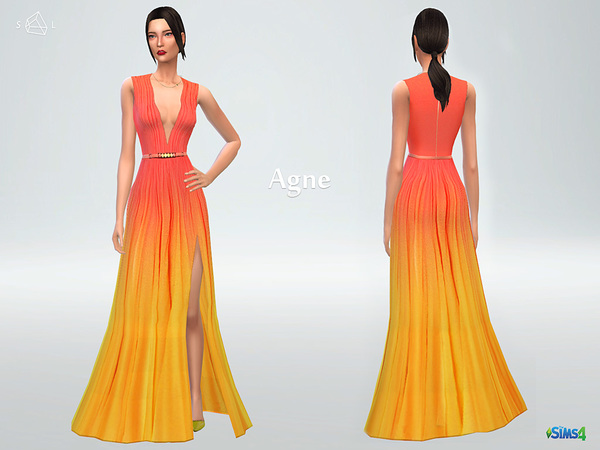 Silk ombre gown Agne by starlord