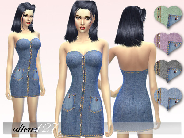 Jeans short dress by altea127