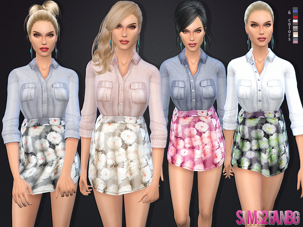 43 - Shirt with miniskirt by sims2fanbg