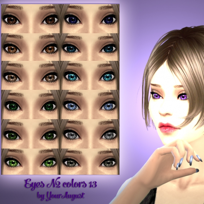 Eyes N2 colors 13 by YourAugust