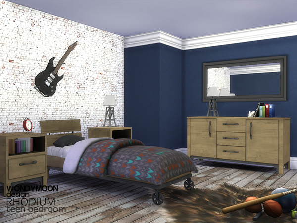 Rhodium Teen Bedroom by wondymoon