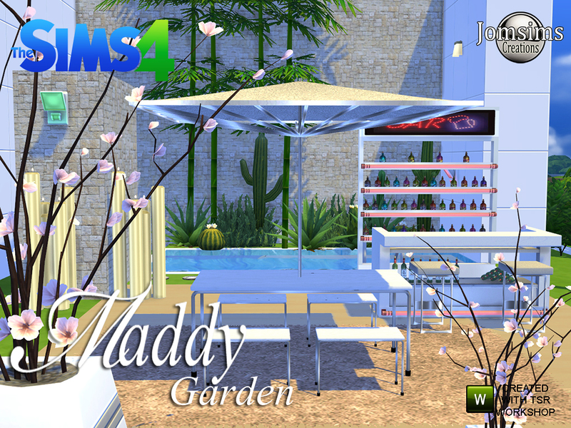 Maddy modern Garden set. BY jomsims