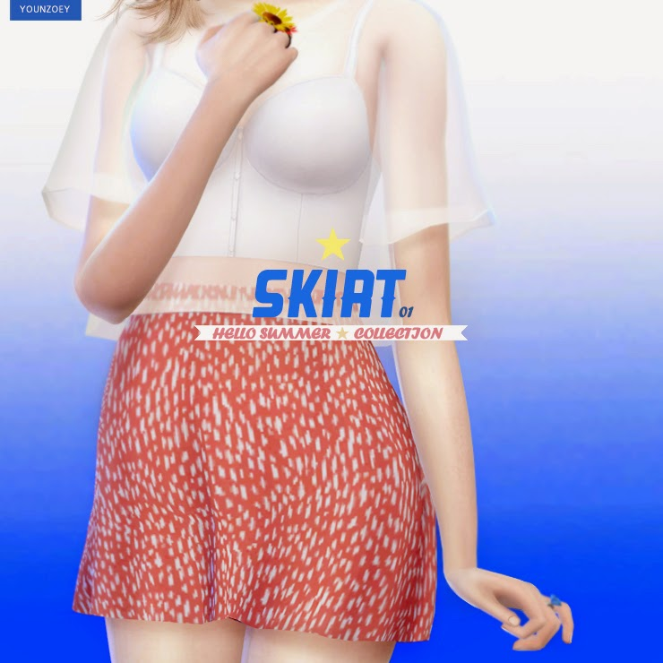 Crop Top & Skirt for Adult Females by YoungZoey