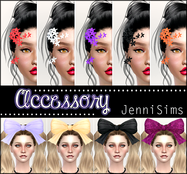 Sets of Accessory Flowers Bow Headband by Jennisims