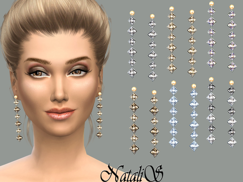 NataliS_Gentle crystals drop earrings FA-FE