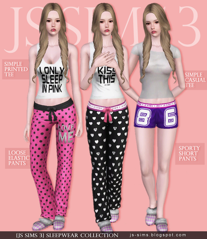 Sleepwear Collection for Teen & Adult Females by JS Sims