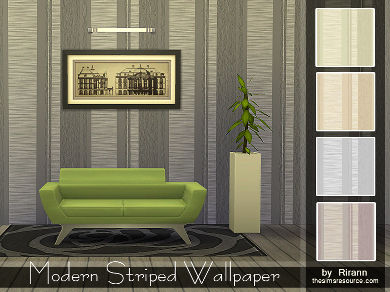 Modern Striped Wallpaper BY Rirann