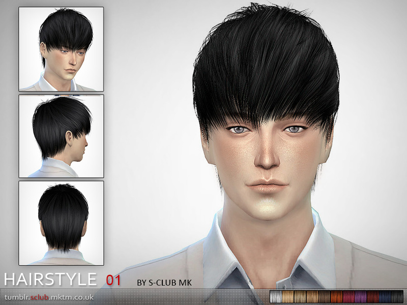 S-Club MK The Sims 4 - Hair #1