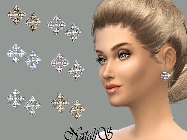 NataliS_Gentle crystals stud earrings FA- FE