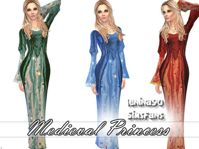 Medieval Princess dresses by lenina_90
