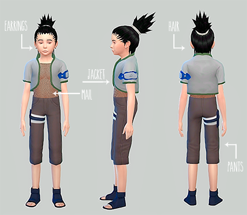 Nara Shikamaru Hair, Clothing and Accessories for Males by HappyToBe