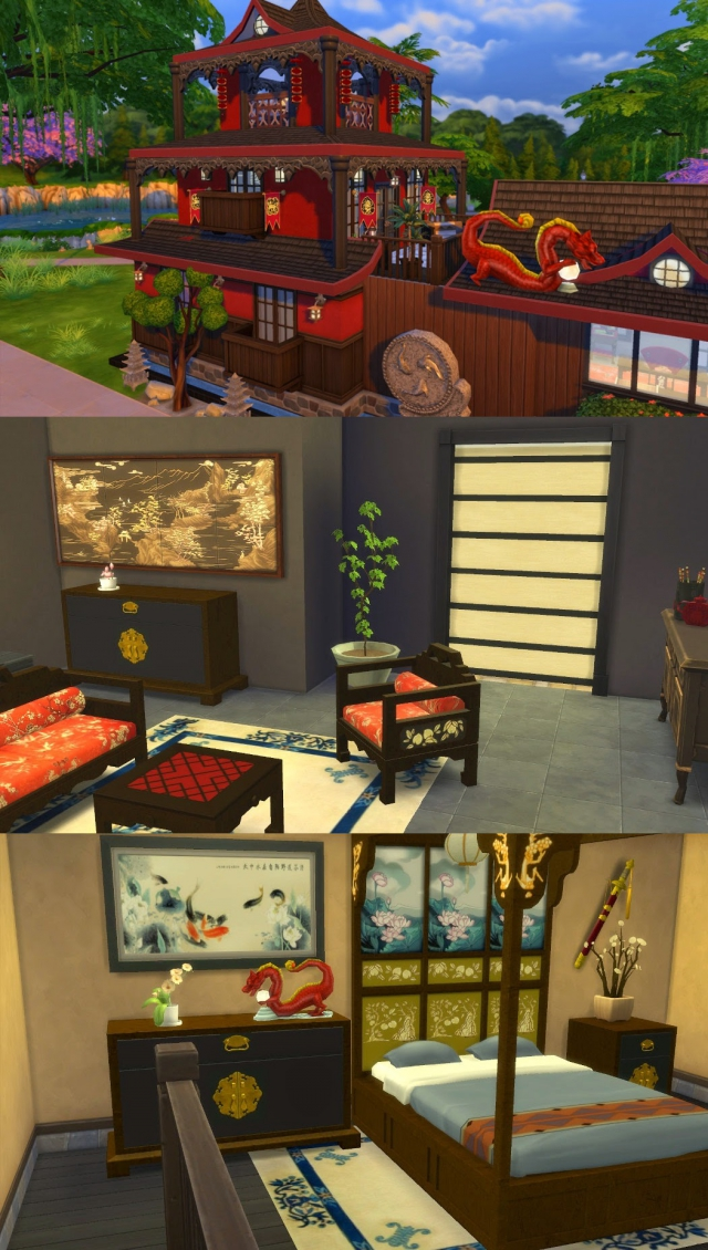 TS3 Asian Deco Goodies Decor by Leander Belgraves