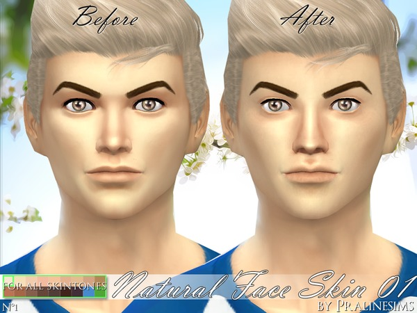 PS Natural Face Skin 01 by Pralinesims