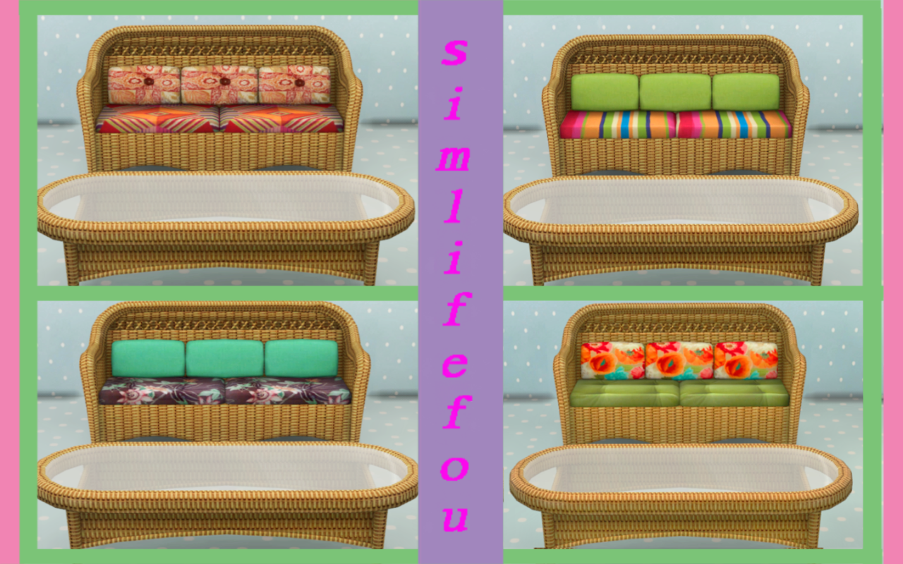 TS3 Wicker Garden Furniture Set by Mysimlifefou
