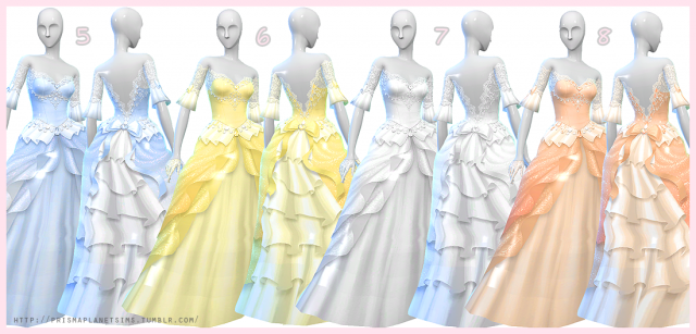 Wedding Dress + Gloves by Prismaplanetsims