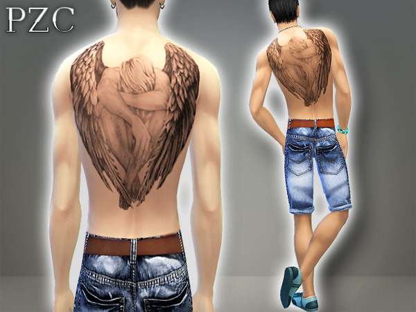 Crying Angel (back tattoo) by Pinkzombiecupcakes