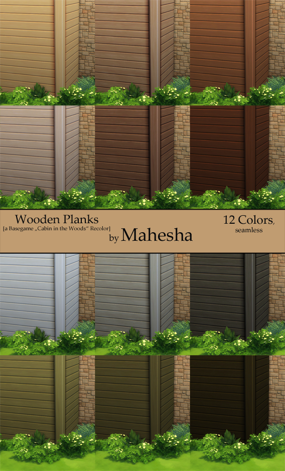 Wooden Plank Wallpaper by Mahesha