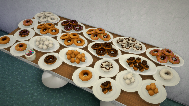 Doughnuts - extracted food by Budgie2budgie