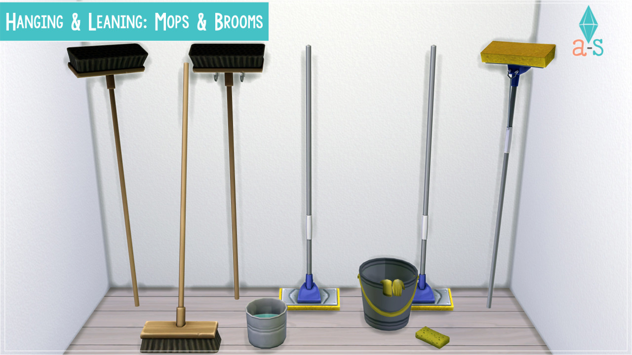 Hanging & Leaning: Mops & Brooms by Ajoya