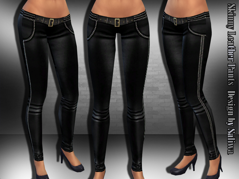 Skinny Leather Punk Pants BY Saliwa