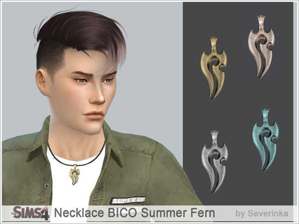 Necklace BICO Summer Fern by Severinka