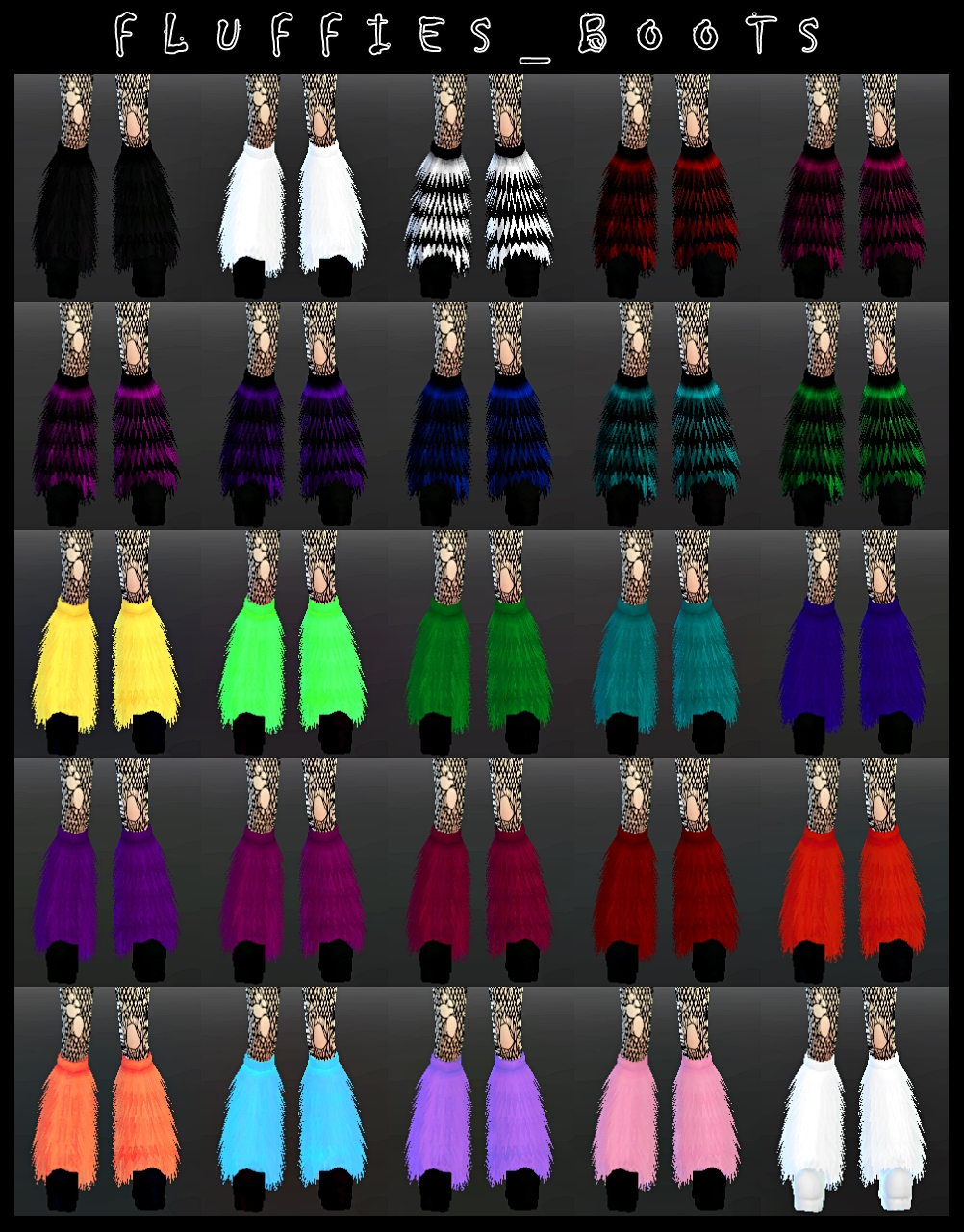 Fluffy Boots by DecayClownSims