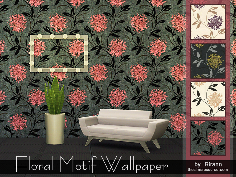 Floral Motif Wallpaper BY Rirann