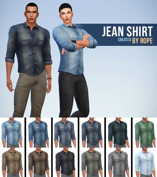 Jeans Shirt for Teen - Elder Males by Rope