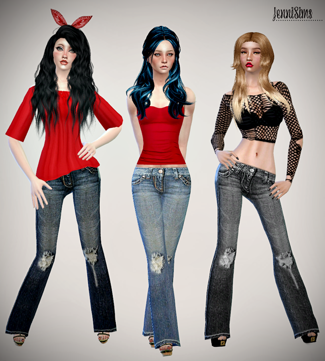 Sets of Jeans & Accessory Bandana Hair by Jenni Sims
