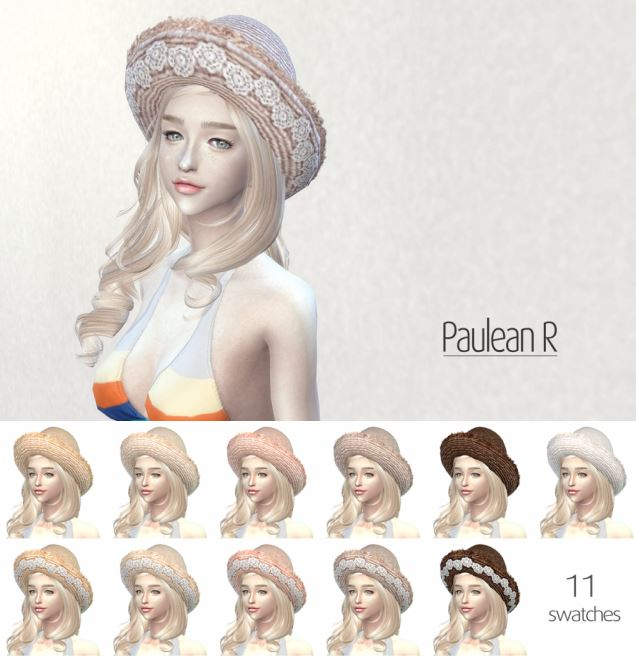 Lace Straw Hat version2 by PauleanR
