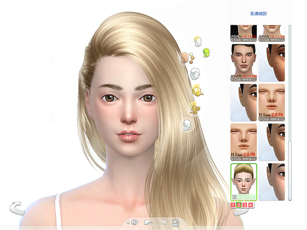 S-Club ts4 HS Snow Elf skintones (F)1.0