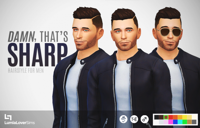 Damn That's Sharp Hair for Males by LumiaLover Sims
