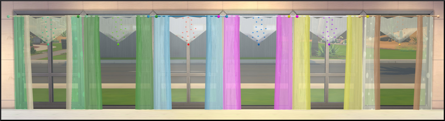 Sims Marktplatz  Objects, Decor : Zipfel curtain XL by Christine1000