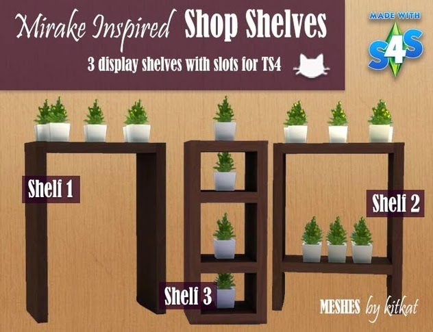 Mirake Inspired Shop Shelves by Kitkat