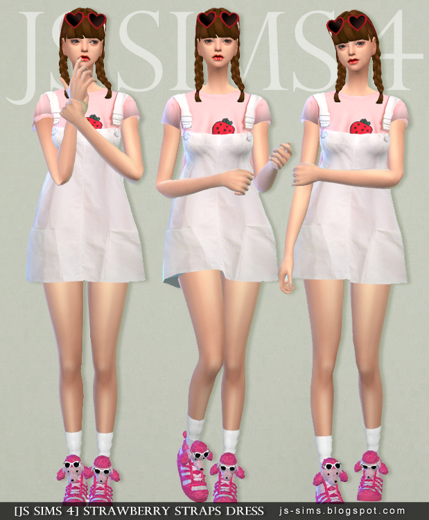 Strawberry Straps Dress by JS Sims 4