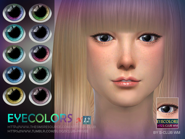 S-Club WM thesims4 eyecolors 12