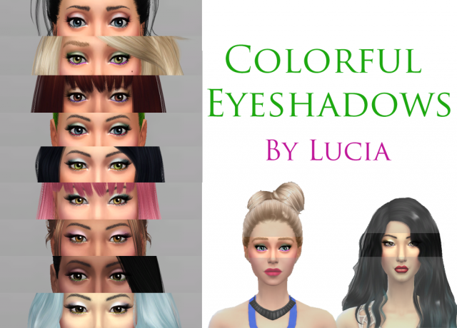 Colorful Eyeshadows by Lucia