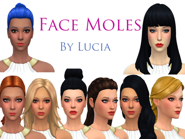 Face Moles by Lucia