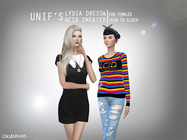 Lydia Dress & ACID Sweater by Callie V