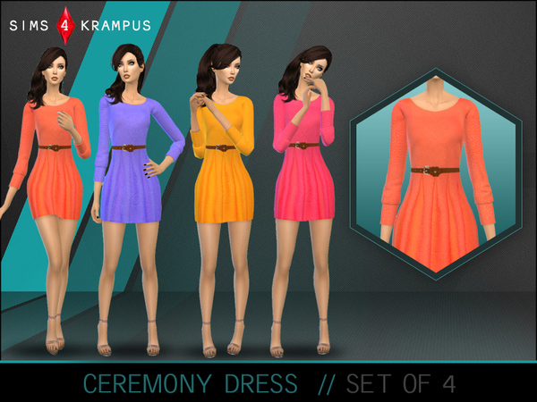 Ceremony Dress Set of 4 by SIms4Krampus