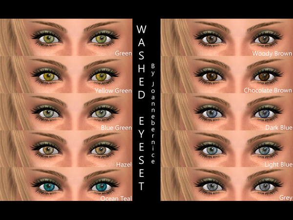Washed Eye Set by joannebernice