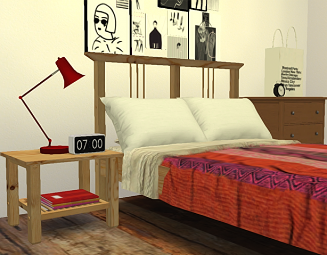 TS2 - Ohbehaves IKEA Inspired Bedroom + Recolors by PureSims