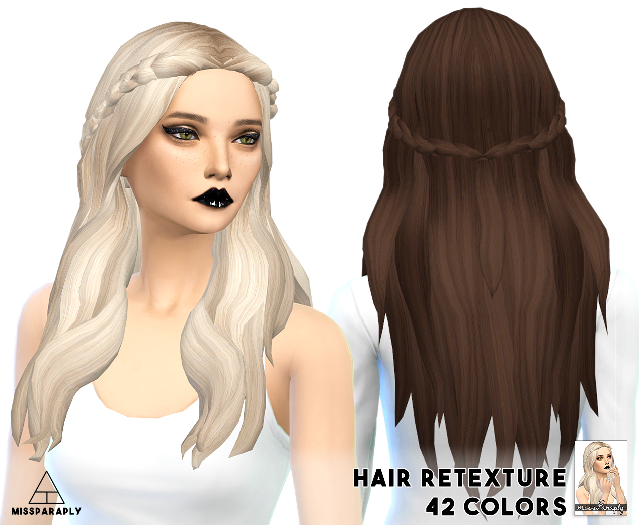 Kiara24 Sensitive Hair retexture by Miss Paraply