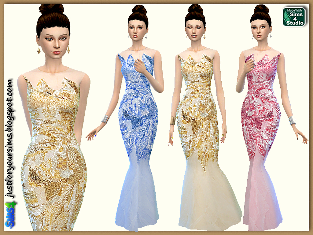 Sequin Mermaid Gown by Just For Your Sims