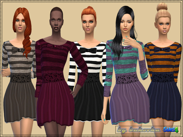 Dress Bow and Stripes by bukovka