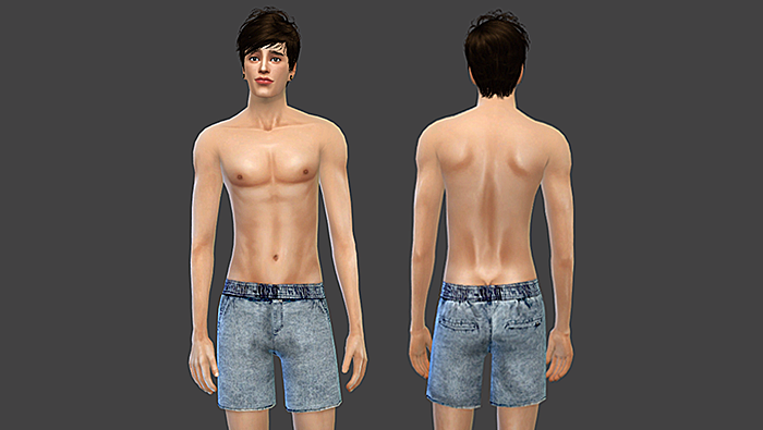 Urban Outfitter Jogger Jean Shorts by Sims4Sweatshop