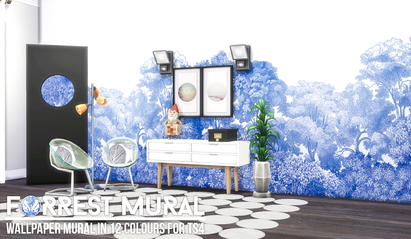 Forest Mural Wallpaper in 12 Colors by Peacemaker ic