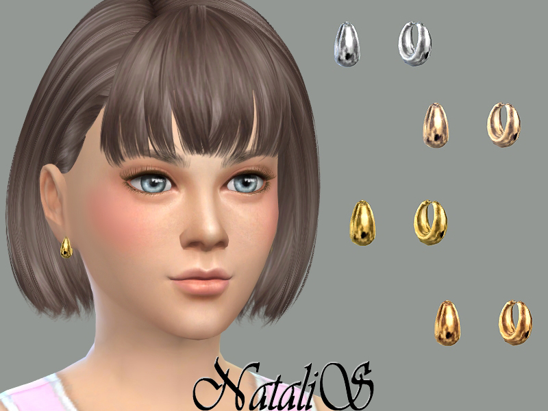 NataliS_Child metal beads earrings CF