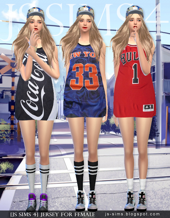 Jersey For Female by JS Sims 4