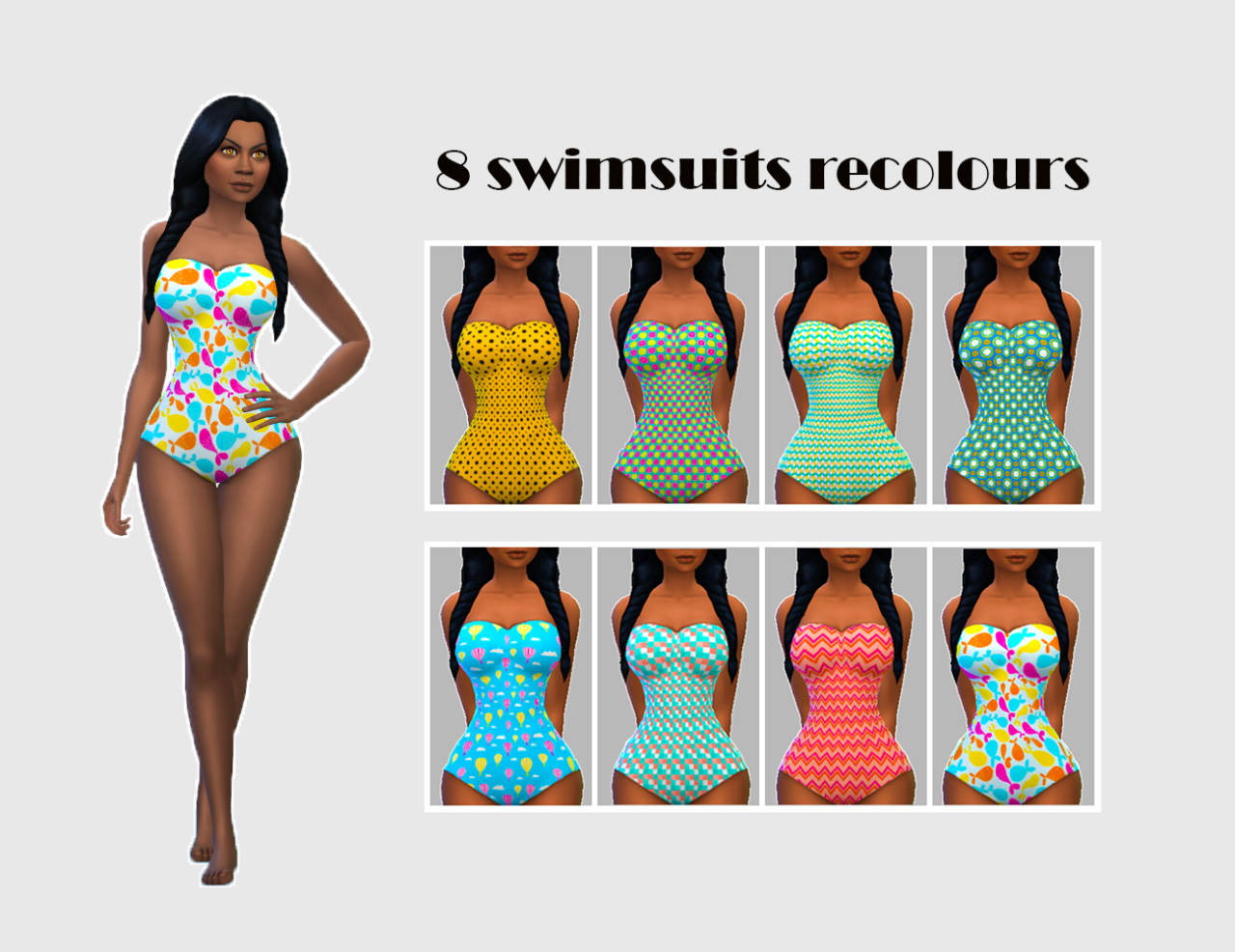 8 Swimsuit Recolors by Song4Penelope